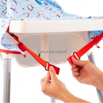 Bibado - High Chair Cover-All Bib (Christmas Penguins)