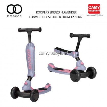 Koopers - Skidzo (Convertible Scooter From 12-50kg) - Assorted Colours