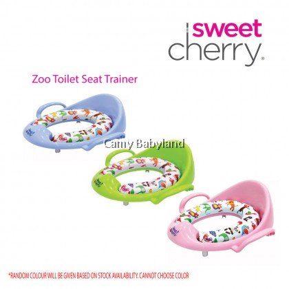 Sweet Cherry - Sweet Cherry Kids Zoo Toilet Training Seat with Pedestal Cushion Ring (Assorted Colours)