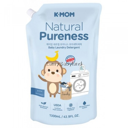 K-Mom Naturefree Organic Baby Laundry Detergent 1300ml (Refill Pack)