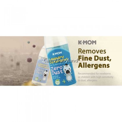 K-MOM Zero-Dust Fabric Detergent (1000ml) - Zero Soap
