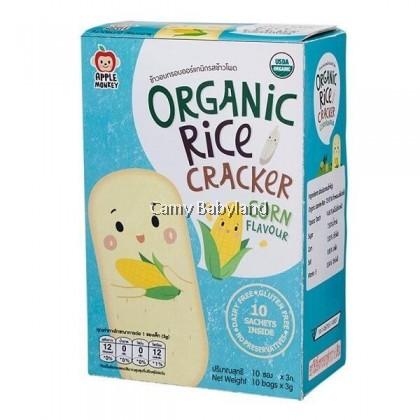 Apple Monkey Organic Rice Crackers - Corn (30g)