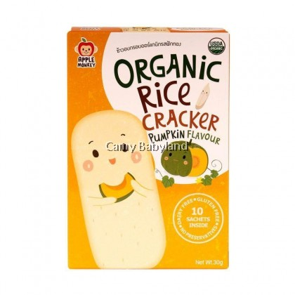 Apple Monkey Organic Rice Crackers - PUMPKIN (30g)