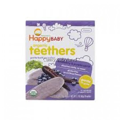 Happy Baby-Teething Wafer (Blueberry/Purple Carrot)-48g