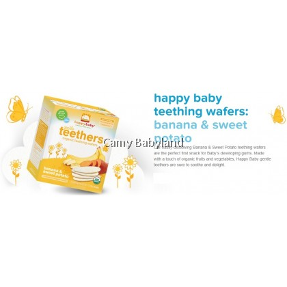 Happy Baby-Teething Wafer (Sweet Potato/Banana)-48g