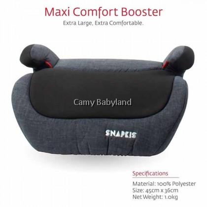 Snapkis Maxi Comfort Booster (Grey Melange/Black)